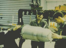 W-80 Warhead being handled on the Ground.