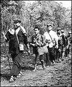 1979: Pol Pot leads the Khmer Rouge back into the jungle after the Vietnamese invasion